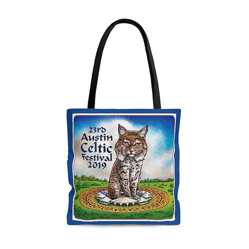2019 Austin Celtic Festival Bobcat Blue OP Tote Bag