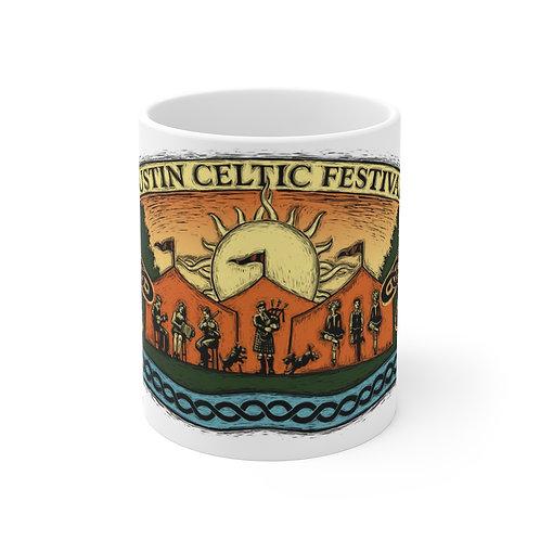 2015 Austin Celtic Festival Dragonfly Mug 11oz