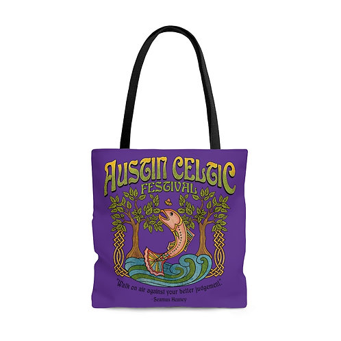 2014 Austin Celtic Festival Purple AOP Tote Bag