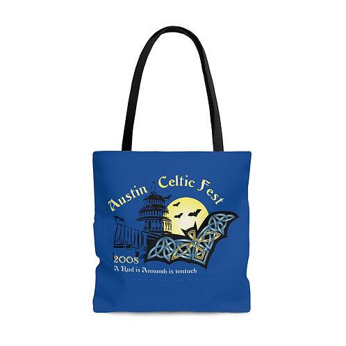 2008 Austin Celtic Festival Bat Logo OP Tote Bag