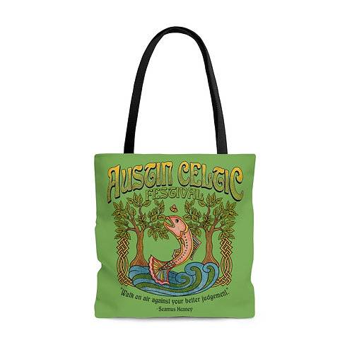 2014 Austin Celtic Festival Lime AOP Tote Bag