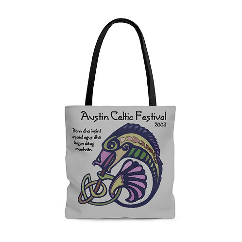2003 Austin Celtic Festival Vintage Logo AOP Tote Bag