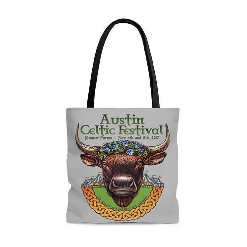 2017 Austin Celtic Festival Bull of Cooley AOP Tote Bag