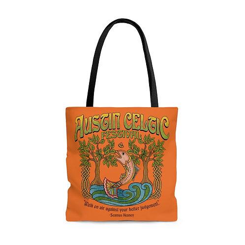 2014 Austin Celtic Festival Orange AOP Tote Bag