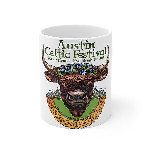 2017 Austin Celtic Festival Bull of Cooley Mug 11oz
