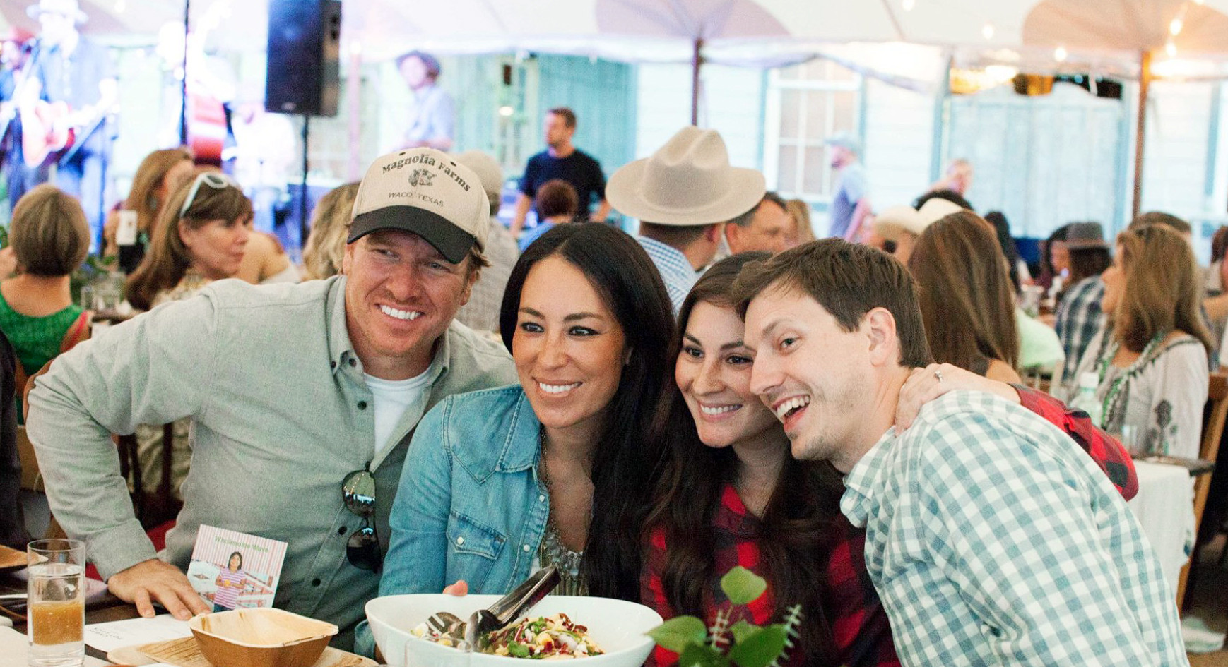 Chip and Joanna Gaines at Willie Nelson's Private Event at Luck Ranch