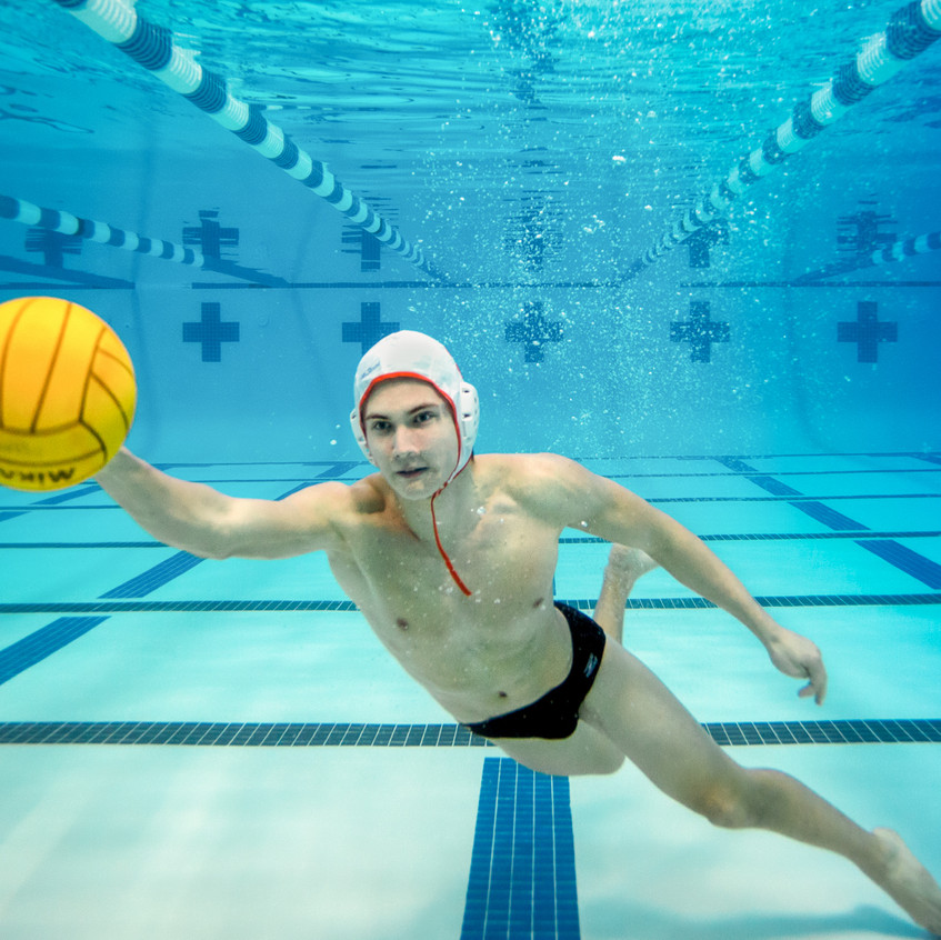 Underwater Water Polo Photo