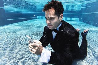 underwater business man