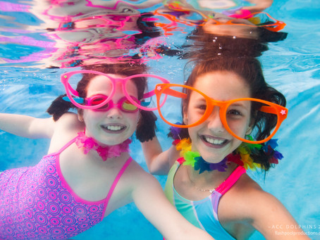 Book an Underwater Photo Booth for your pool party and we will take your Team Photo for FREE!