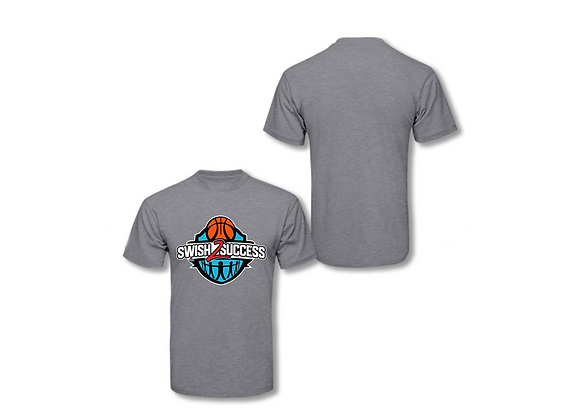 Swish 2 Success Original Logo T Shirt - Gray