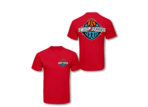 Swish 2 Success Chest & Back Logo T-Shirt - Red
