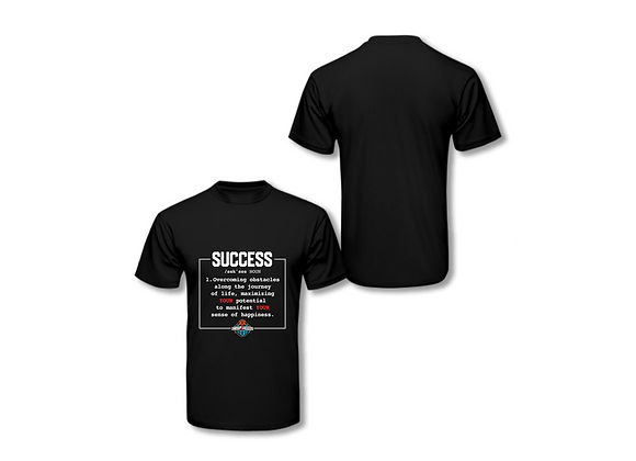 Definition of Success T shirt- Black