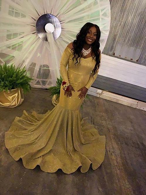 Golden Diva Gown