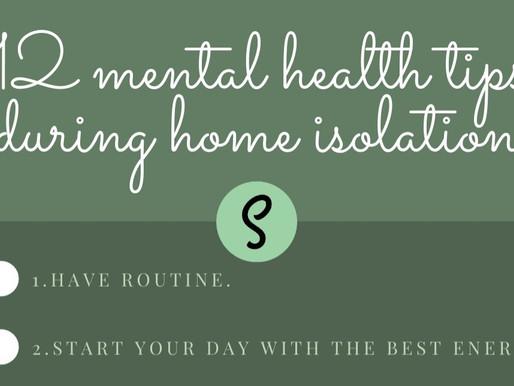12 conseils pour la santé mentale lors de l'isolement | 12 mental health tips during home isolation