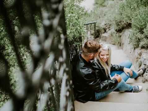 Setkání před svatbou v Průhonickém parku