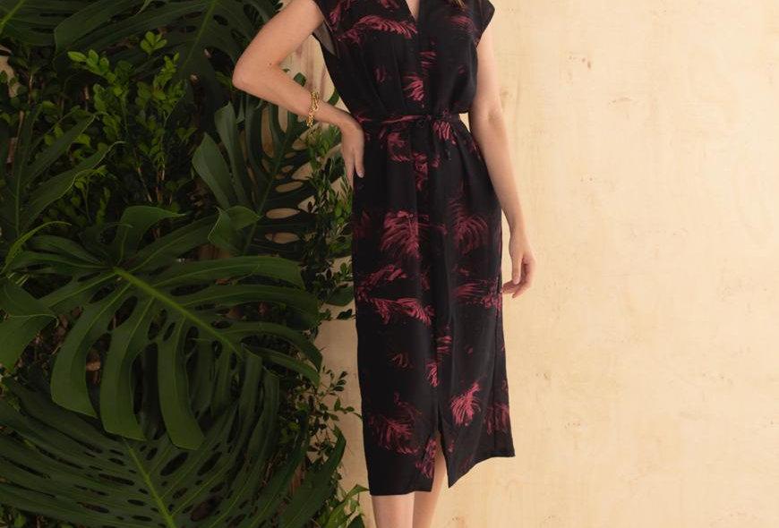 Vestido oriental em Linho