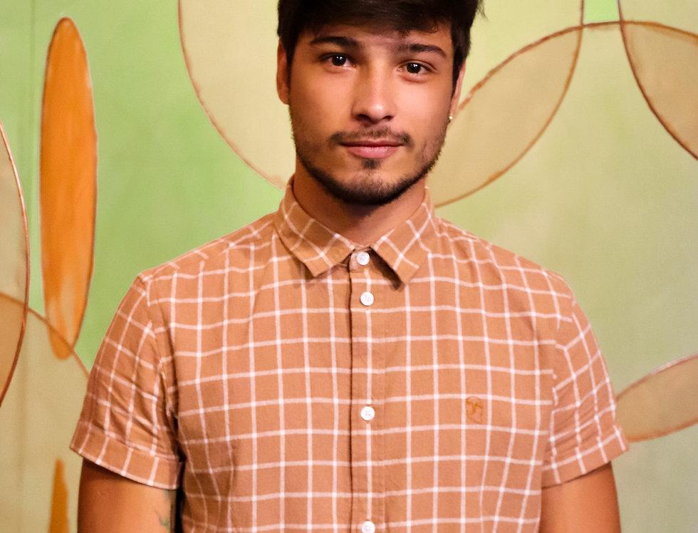Camisa Xadrez Camel