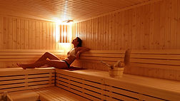 Relajación en sauna