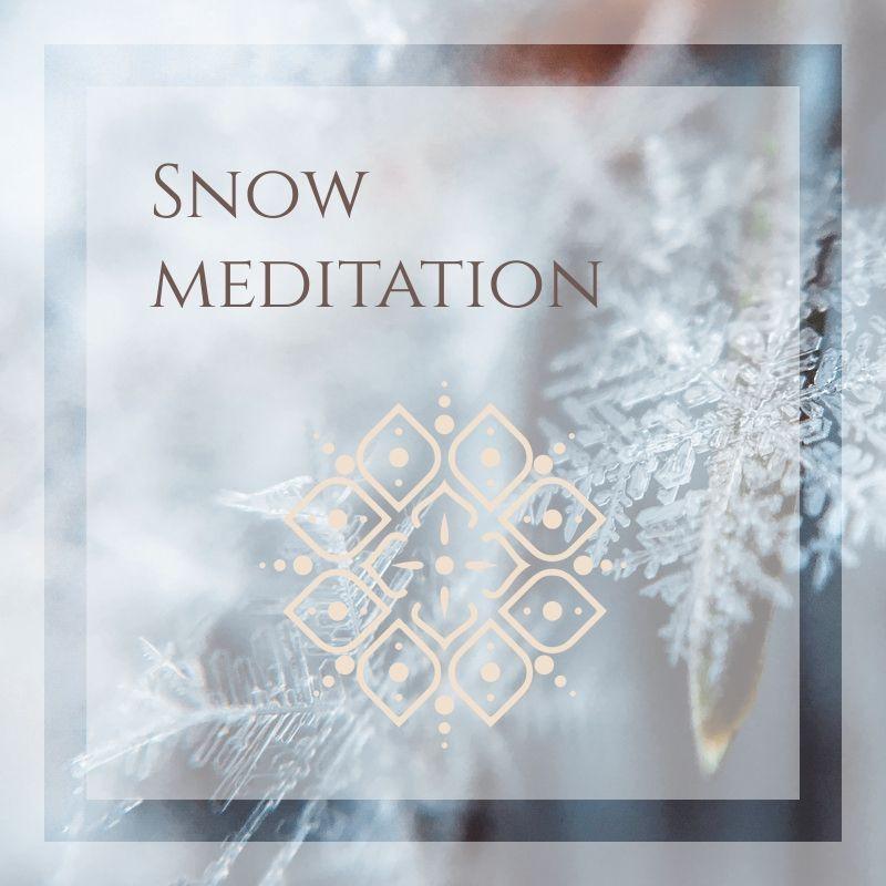 snow meditation