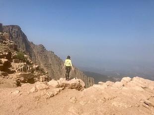 Mountain Pose on a mountain