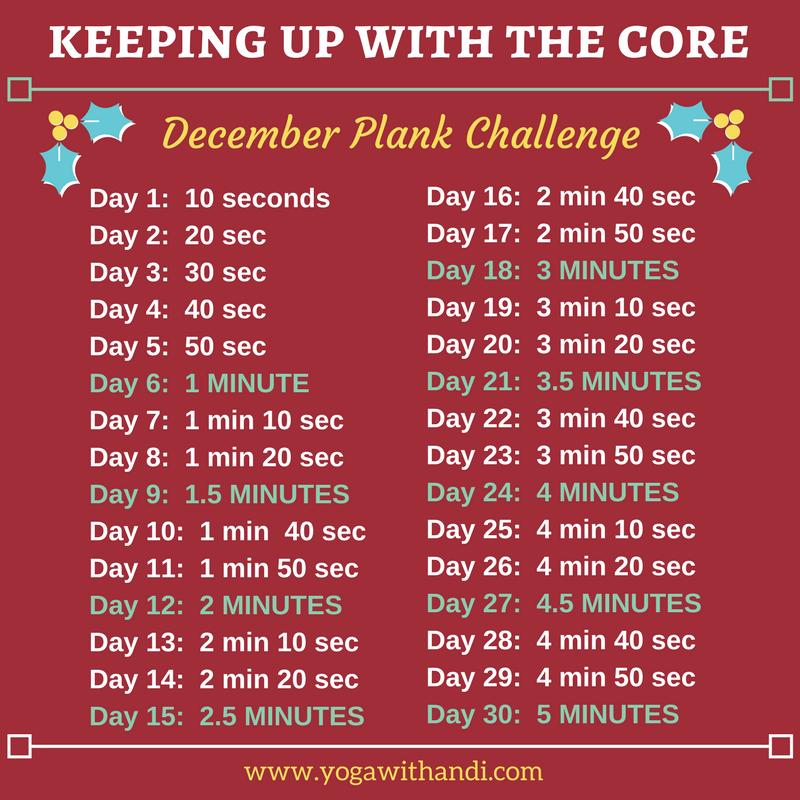 December Plank Challenge