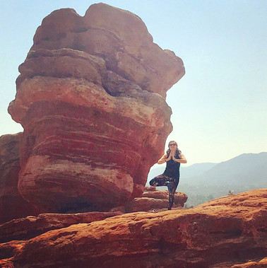 Standing Balance by Balanced Rock