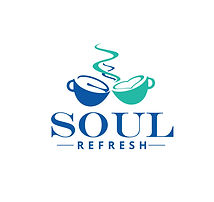 Soul Refresh logo green & blue cups