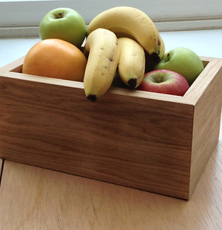 Oak veneer fruit bowl