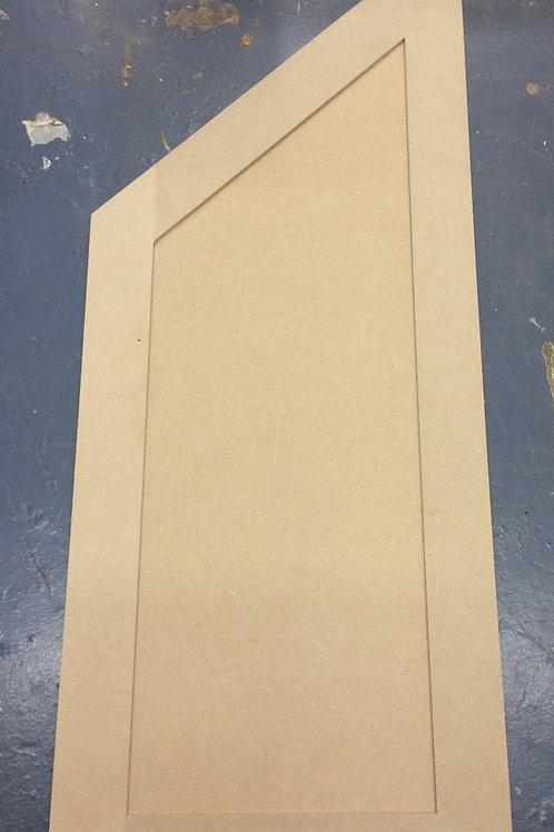 MDF angled shaker cupboard doors