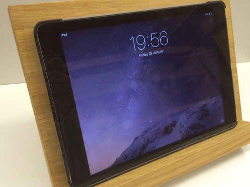 Oak veneer iPad holder