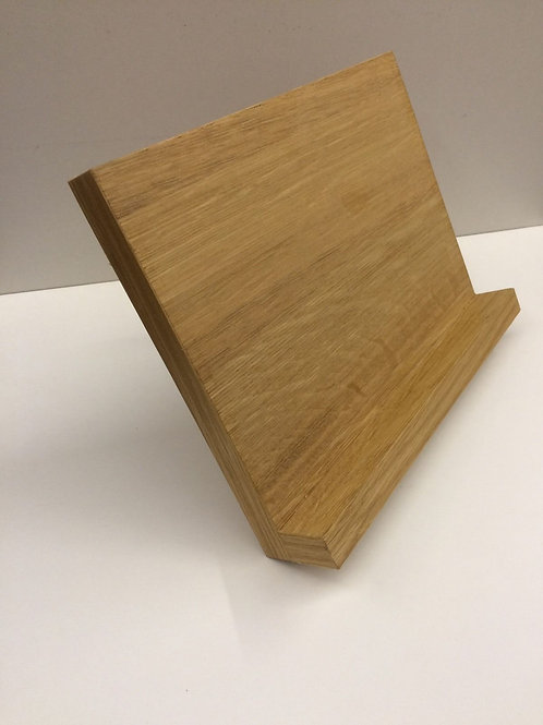 Oak veneer cookbook stand