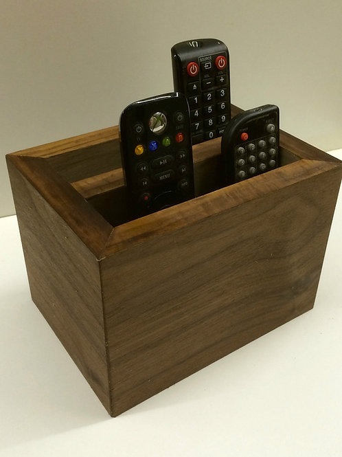 Walnut veneer remote holder
