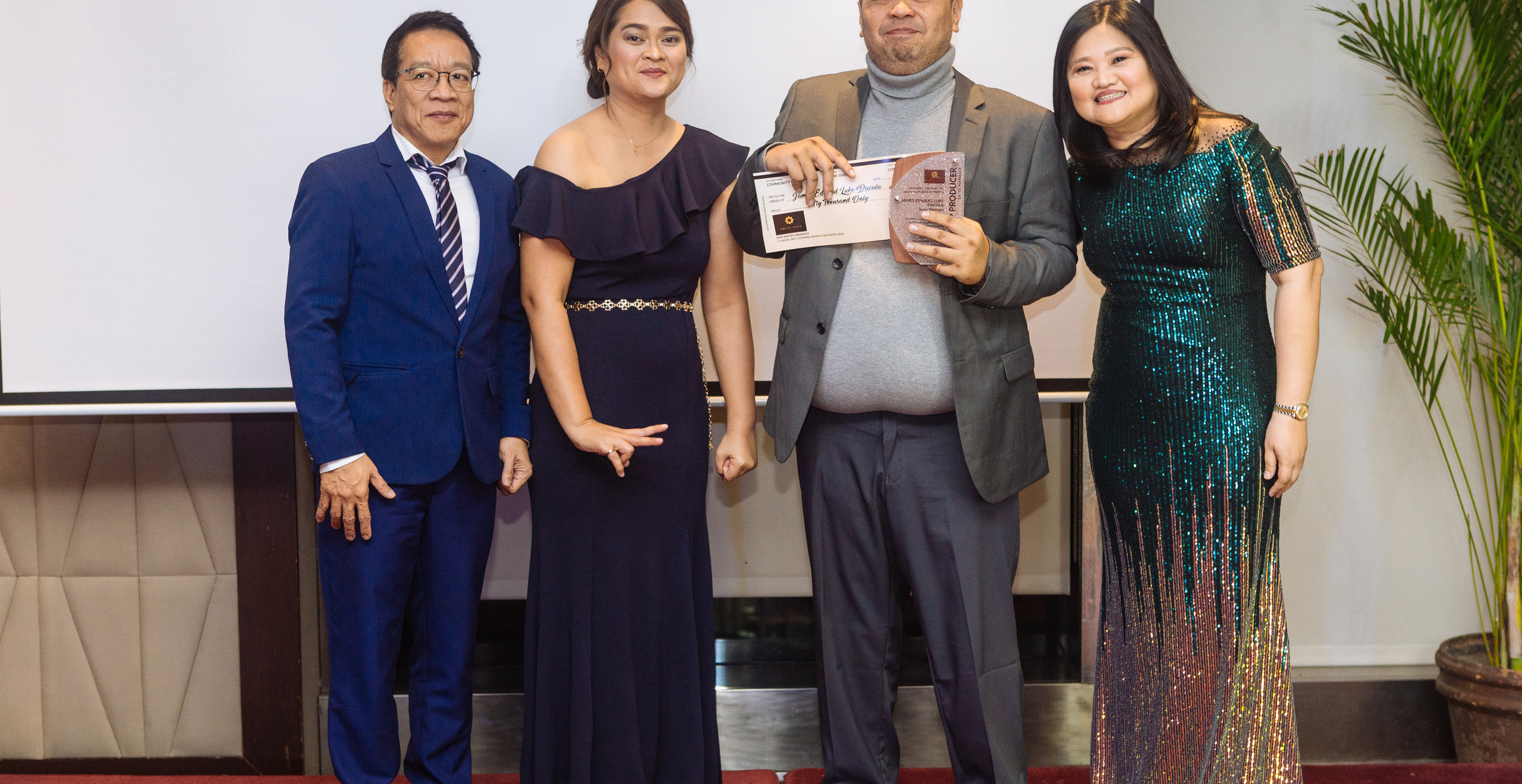 2nd Annual Top Sales Manager Mr. James Edward Luke Dacula (3rd from left) with CCI Officers