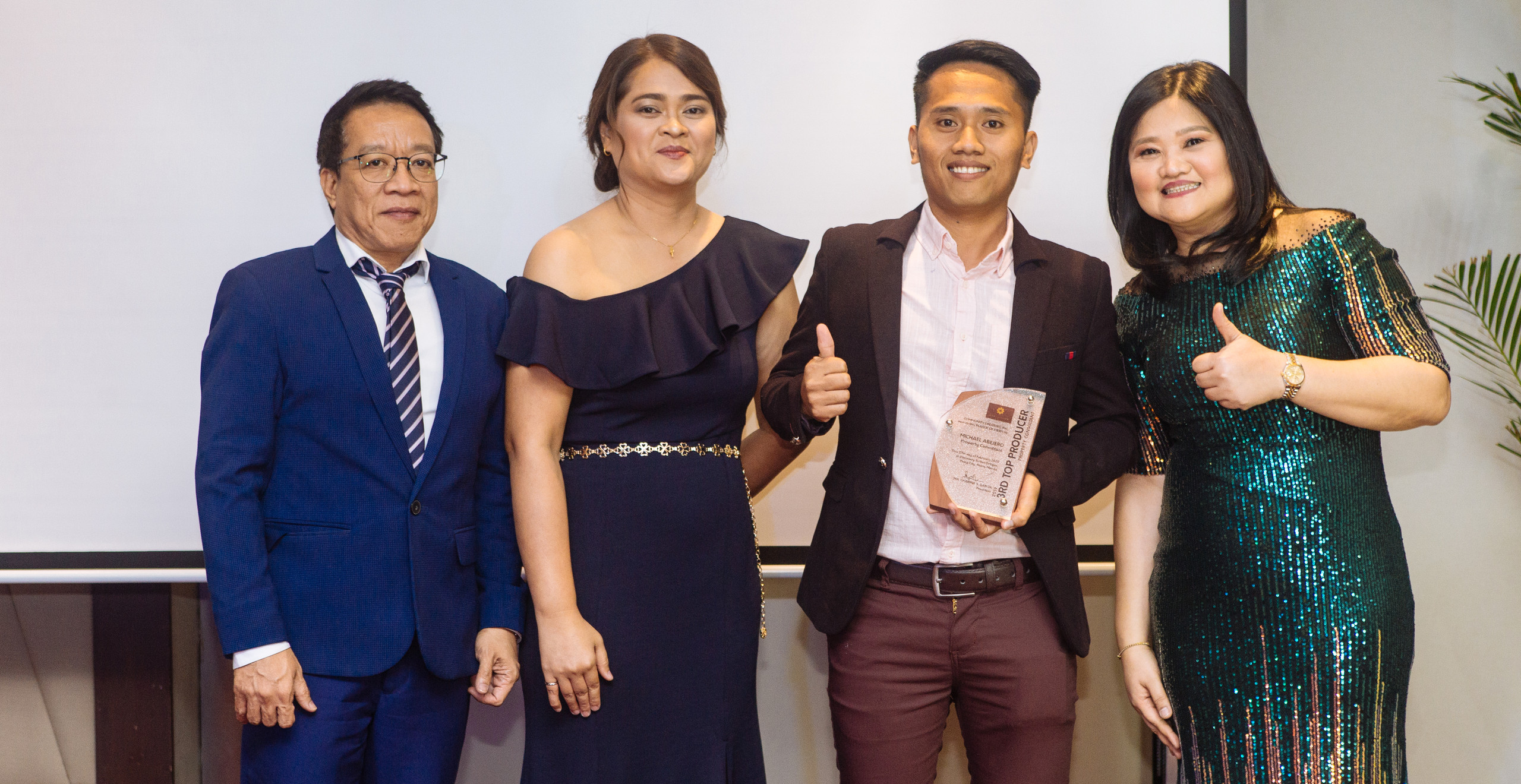 2nd Annual Top Property Consultant Mr. Michael Abejero (3rd from left) with CCI Officers
