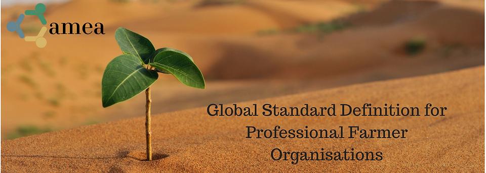 Agribusiness Market Ecosystem Alliance Global Standard Definition for Professional Farmer Organisations