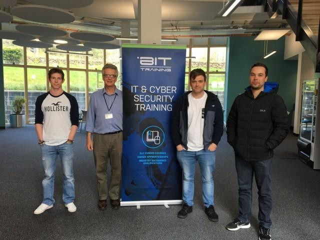 CompTIA Security+ delegates completing their training at BluescreenIT South West office