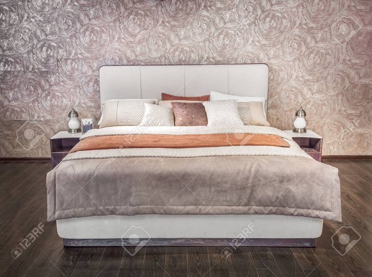 105667963-luxury-gray-beige-modern-bed-f