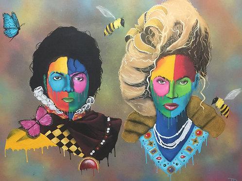 Michael Jackson & Beyonce Print