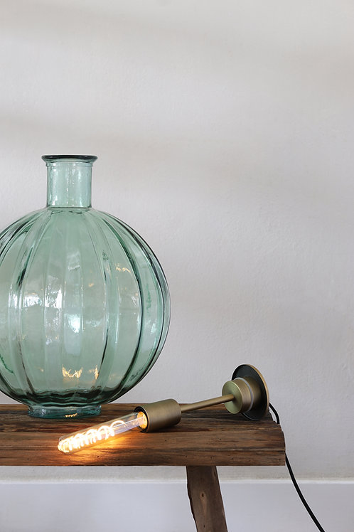Light up Vase Light Antique Brass