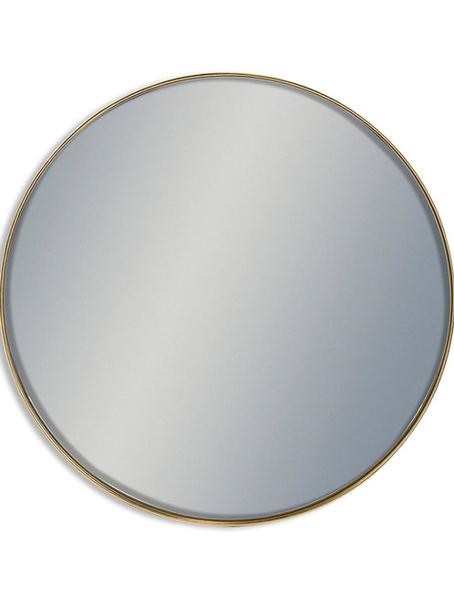 Lyon Giant Round Gold Framed Mirror 120cm