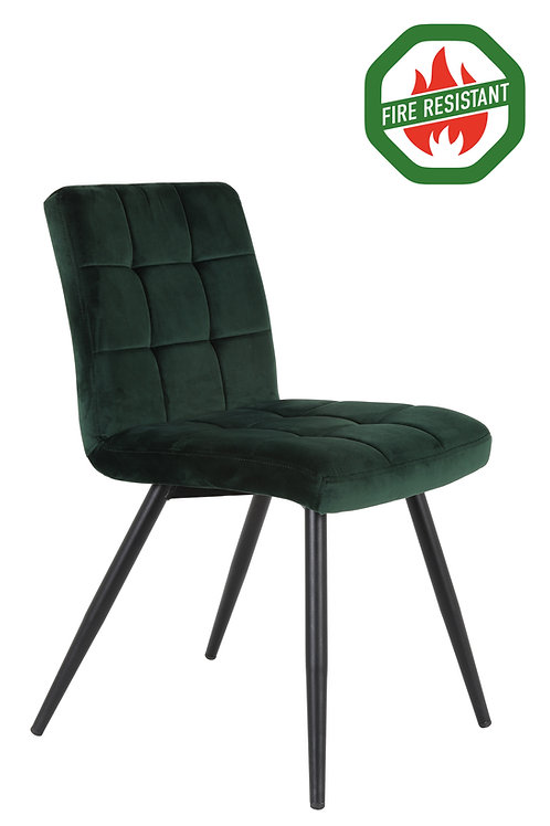 Dinning Chair Velvet Dark Green