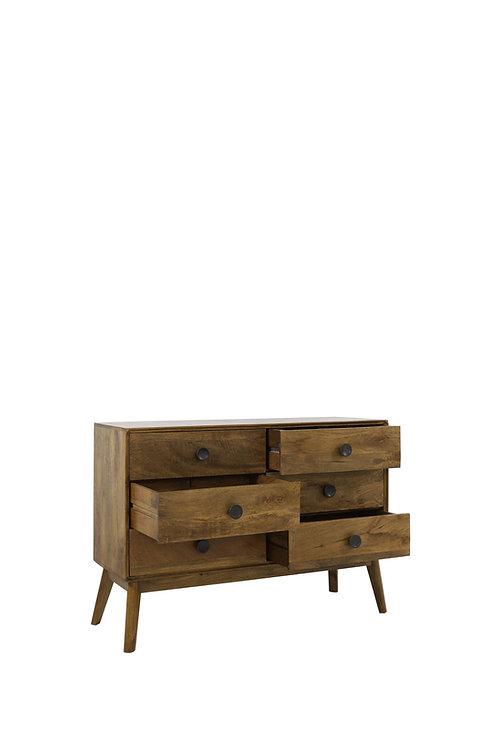6 Drawer Cabinet 114cm x 40cm x 80cm