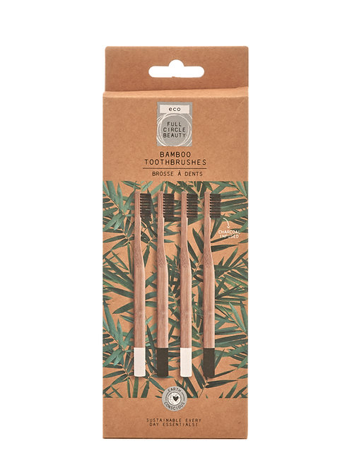 4pk Bamboo Charcoal toothbrushes