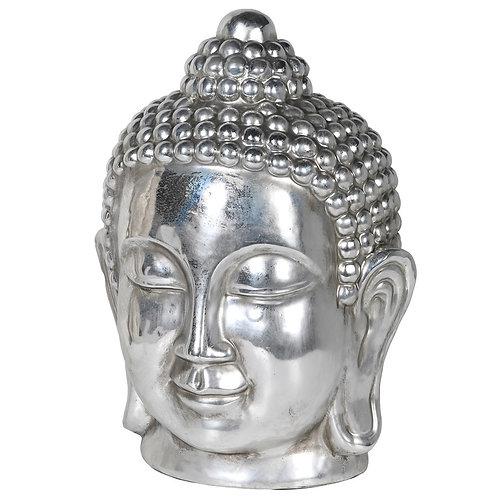 Silver Buddha Head Large