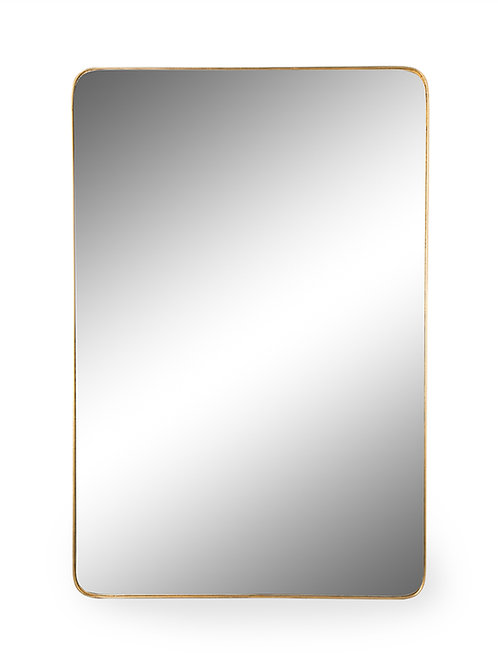 Lyon rectangular Gold Framed Mirror