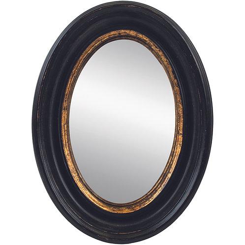 Oval Convex Mirror Antique Black Small
