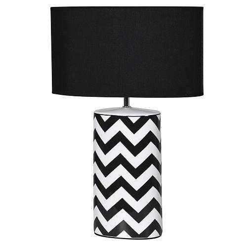 Zigzag Monochrome Table Lamp