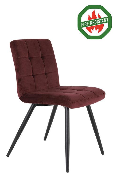 Dinning Chair Velvet Burgundy