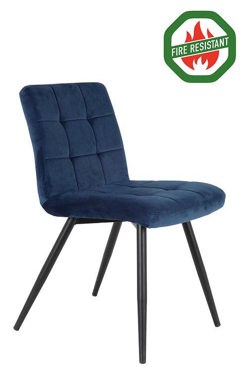 Dinning Chair Velvet Blue