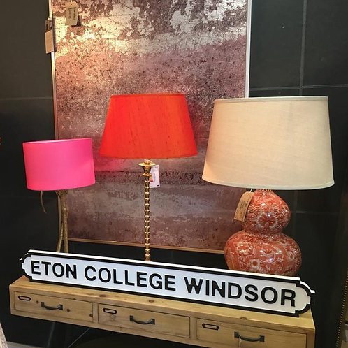 Eton College Windsor Sign